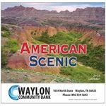 Custom American Scenic Wall Calendar - Stapled - 2021