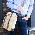 Custom Urban Edge by Canyon Grady Large Canvas Messenger Bag
