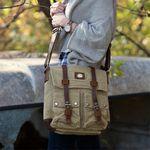 Custom Urban Edge by Canyon Corbin Small Canvas Messenger Bag