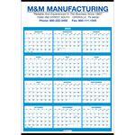 Single Sheet Wall Calendar - Full Year View
