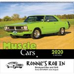 Custom 2020 Muscle Cars Wall Calendar - Spiral