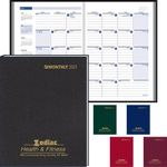 Custom Ruled Monthly Format Stitched to Cover Desk Planner - 2021