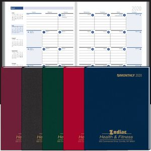 2019 Ruled Monthly Format Stitched to Cover Desk Planner