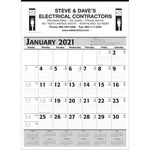 Custom Commercial Planner Wall Calendar - Grey & Black - 2021