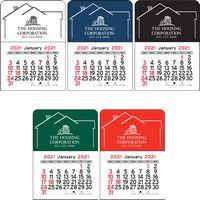 House Vinyl Adhesive Mini Stick Calendar - 2021