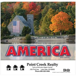 Custom Printed I Love America Appointment Calendars