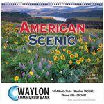 American Scenic Wall Calendar - Spiral