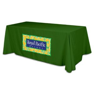 4 Sided Flat Polyester Screen Printed Table Cover (Fits 8 Table)