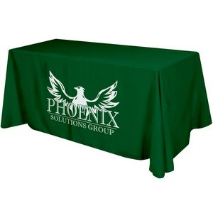 4 Sided Flat Polyester Screen Printed Table Cover (Fits 6 Table)