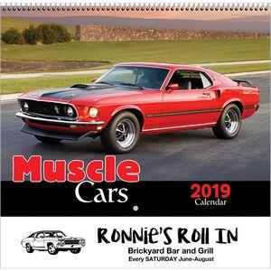 2019 Muscle Cars Wall Calendar - Spiral
