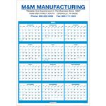 Custom Single Sheet Wall Calendar - Full Year View - 2021