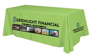 Polyester Digital Direct Print Table Cover 3 sided, 8 foot