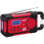 Custom Jensen AM/FM Weather Band Weather Alert Radio with 4 Way Power with Built In Flashlight