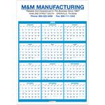 Custom 2020 Single Sheet Wall Calendar - Full Year View