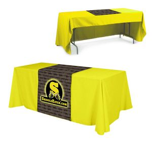 Full Color Polyester Top Table Runner (Front/ Top)