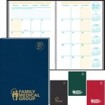 Custom Academic Desk Monthly Planner w/ Morocco Cover - 2020-2021