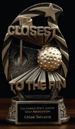 Arched Resin Closest To The Pin Award