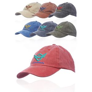 6 Panel Washed Cotton Unconstructed Caps - ACAP21 - IdeaStage Promotional  Products 05045cc59608