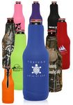 Custom Neoprene Zippered Beer Bottle Coolies