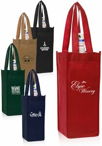 Non-Woven Vineyard One Bottle Wine Bags (5x12)