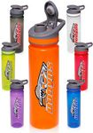 Custom 22 Oz. Plastic Sports Bottles with Flip Lid