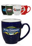 Custom 16 Oz. Two-Tone Speckled Bistro Mugs