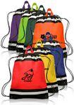 Custom Small Reflective Drawsting Backpacks