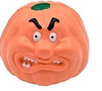 Angry Pumpkin Stress Reliever Squeeze Toy