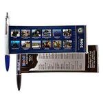 Custom Banner Pen W/ Metal Clip & Chrome Plunger (Super Saver)
