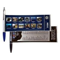 Banner Pen W/ Metal Clip & Chrome Plunger (Super Saver)