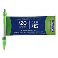 Banner Pen w/ Clear Rounded Clip & Chrome Plunger (Super Saver)