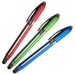 Stylus Banner Pen w/ Hook Curved Clip & Gel Ink (Priority)