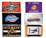 Custom Screen Printed Large Flags - Small Quantity (Priority - 3'x5')