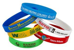 1/2 Screen Printed Silicone Awareness Bracelets (Super Saver)