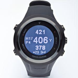 Custom Voice Caddie T2 Hybrid Golf GPS Watch - Black