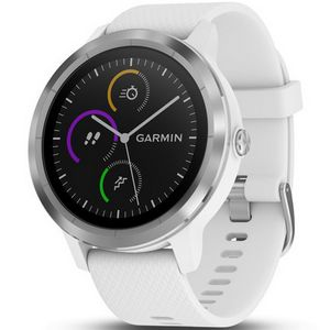 Custom Garmin Vivoactive 3 GPS Smartwatch - White/Stainless Steel