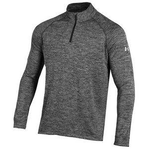 Custom Under Armour Men's Tech 1/4 Zip - Twisted Black