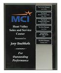 Custom High Gloss Black Perpetual Plaque w/ Magnetic Acrylic Tiles (8