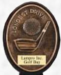 Oval Golf Resin Plaque - Longest Drive 5.5