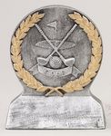 Silver and Gold Golf Theme Resin Award