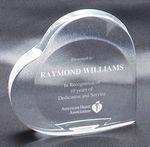 Custom Clear Acrylic Heart Award