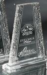 Custom Acrylic Crinkle Edge Tower Award (8 5/8
