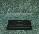 Custom Acrylic Football Case on Black Acrylic Base
