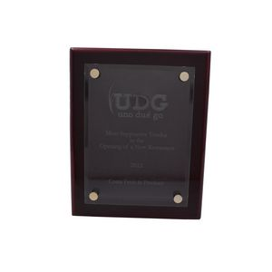 Floating Glass Rosewood Piano Finish Plaque