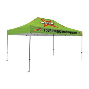 Custom Premium Aluminum 15' Tent Kit (Full-Bleed Dye Sublimation)