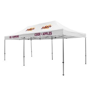 Custom Premium Aluminum 20' Tent Kit (Imprinted, 4 Locations)