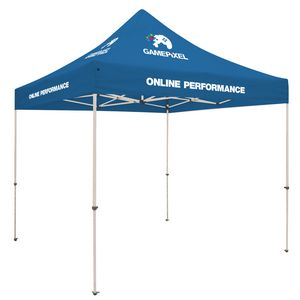 Custom Standard 10' Tent Kit (Full-Color Imprint, 6 Locations)