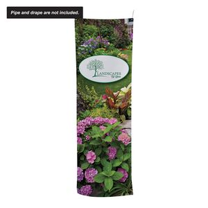 """24""""W x 72""""H Pipe and Drape Banner Kit"""