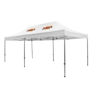 Custom Premium Aluminum 20' Tent Kit (Imprinted, 2 Locations)