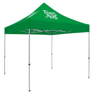 Custom Deluxe 10' Tent Kit (Full-Color Imprint, 2 Locations)